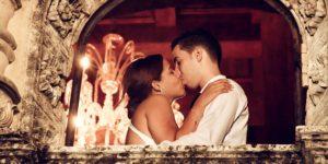 カップル キス 結婚式